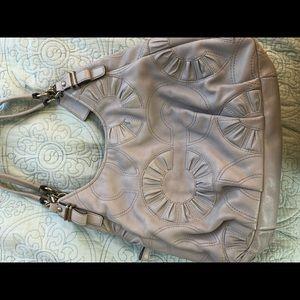 Beautiful grey Coach shoulder bag!